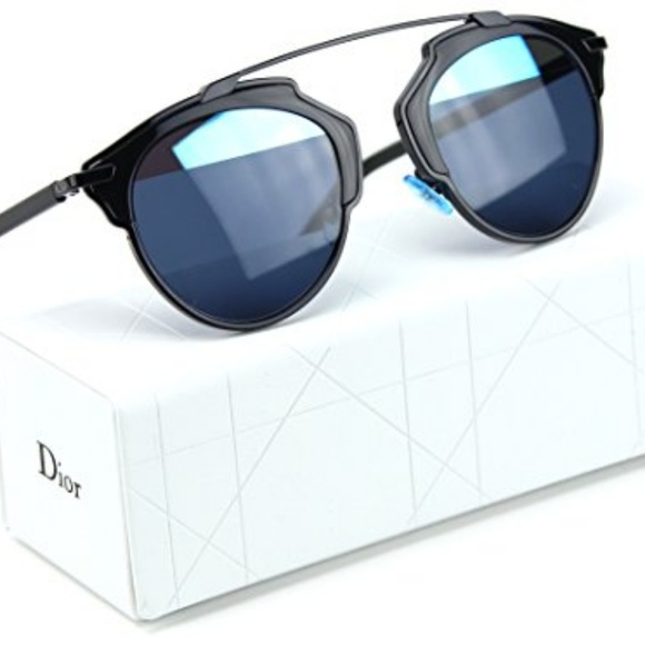 4335f016df679 Dior Accessories - Christian Dior So Real Sunglasses Black+Blue